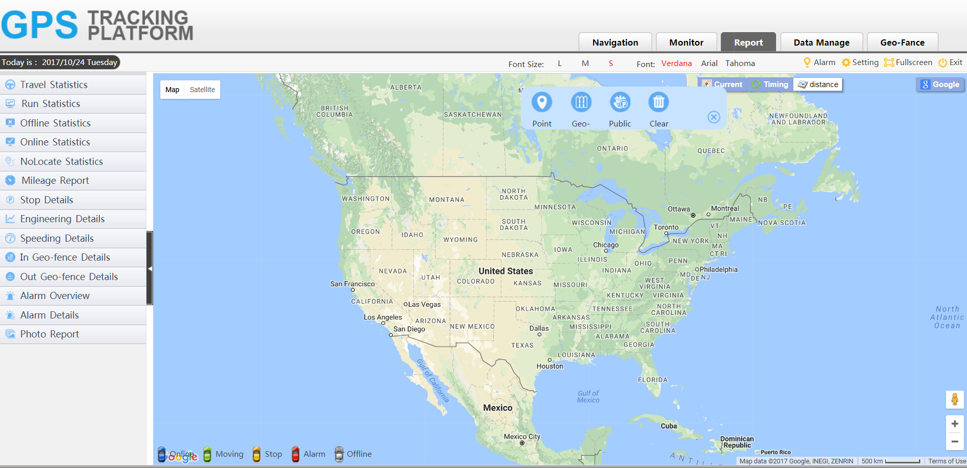 gps tracker platform reporting